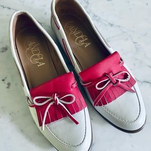 Candela Anthropologie leather loafers shoes 7 1/2